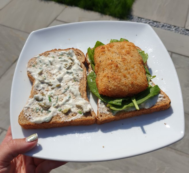 Grown up take on a fish finger sandwich